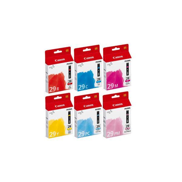 Canon PGI-29 C/M/Y/PC/PM/R Ciano, Ciano per foto, Magenta per foto, Rosso, Giallo cartuccia d'inchiostro 8714574572406 4873B005 10_242V492