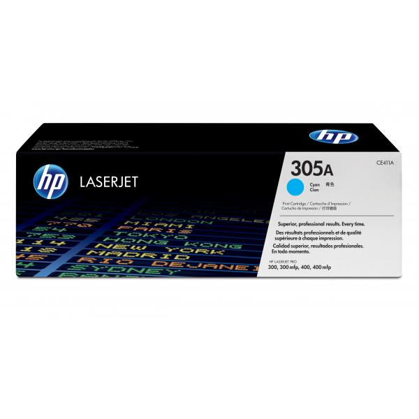 HP 305A LJ Print Cartridge Cyan - CE411A