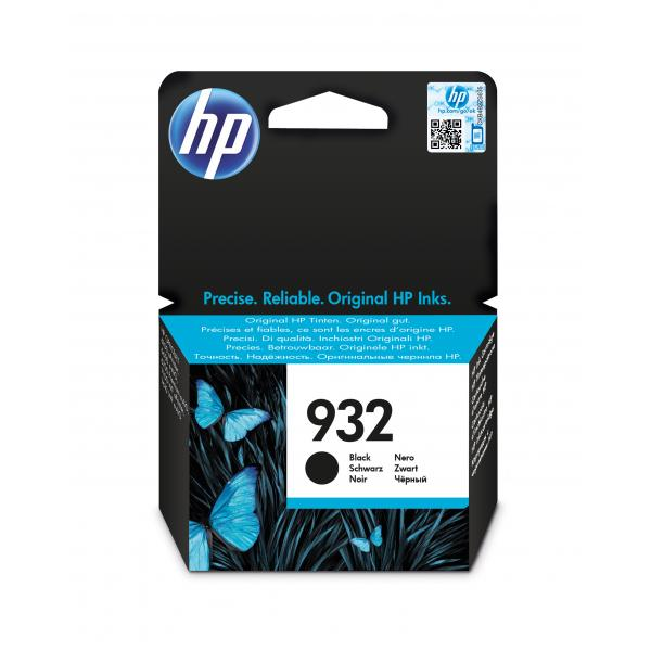HP 932 Black Officejet Ink Cartridge EMEA1 - EN , GR, FR, IT, NL, RU - CN057AE#BGX