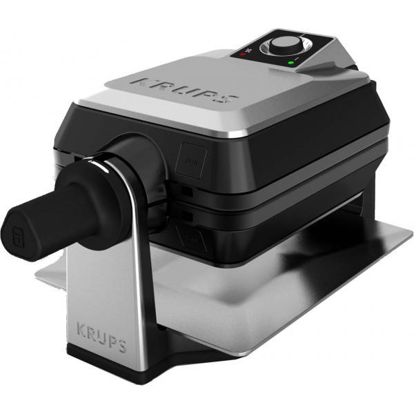 Krups FDD95D 2waffle(s) 1200W Nero, Acciaio inossidabile piastra per waffle 3168430685796 FDD95D 04_90466184