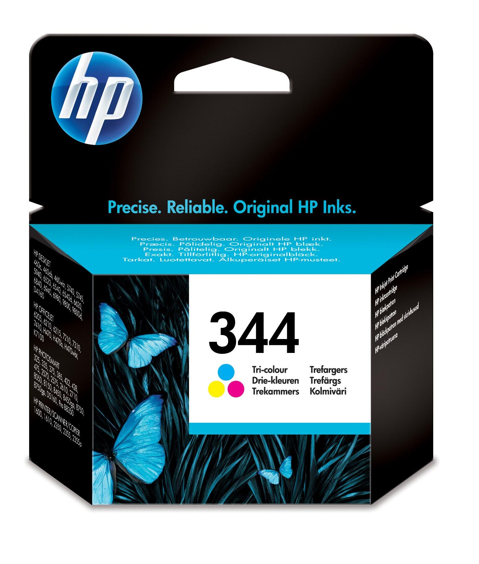 HP 344 Europe Tricolor Print Cartridge Use in selected HP DeskJet printers,HP  OfficeJet,HP Printer/Scanner/Copiers  and HP PhotoSmart Printers - C9363EE