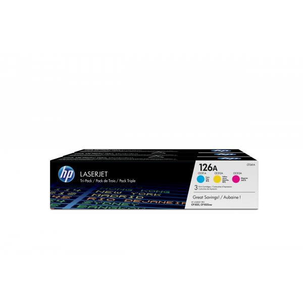126A COLOR TRI-PACK LASERJET TONER