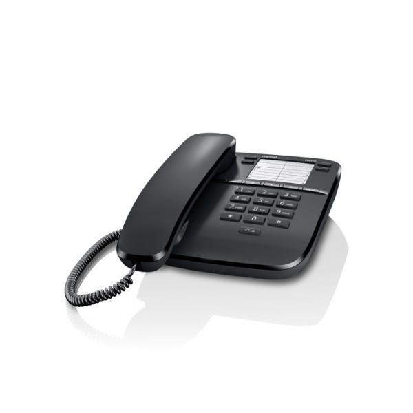 TELEFONO CON FILO GIGASET DA310 S30054S6528R101 Black 3 suonerie, 4 tasti chiamata diretta, 10 tasti per selezione rapida