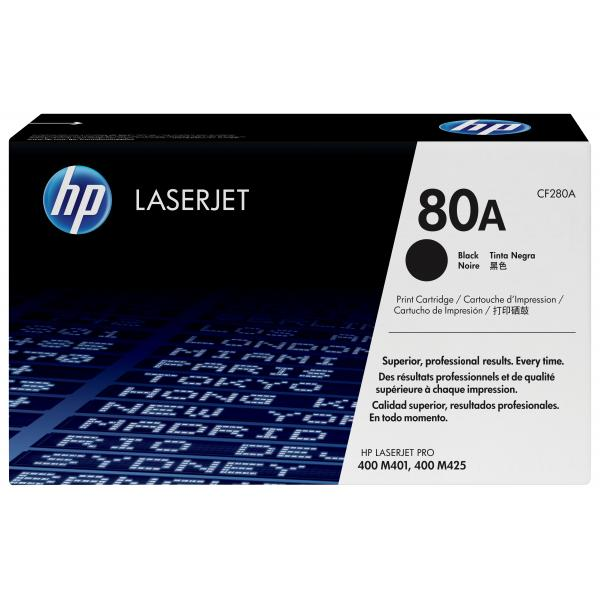 HP 80A Standard Capacity Black LaserJet Toner Cartridge - CF280A