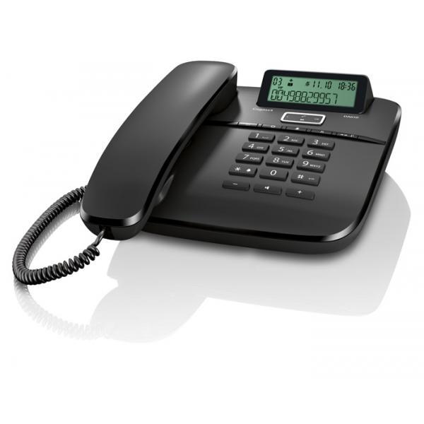 TELEFONO CON FILO GIGASET DA610 S30350S212R101 Black ID chiamate, 10 suonerie, rubrica 50 nomi VIVAVOCE