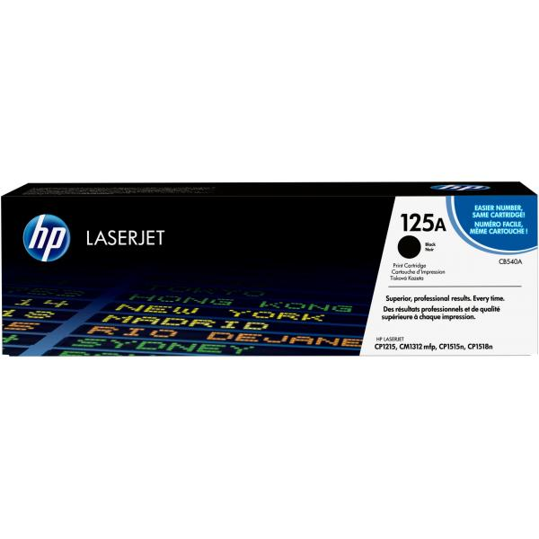 HP Black Print Cartridge with Colorsphere Toner - CB540A