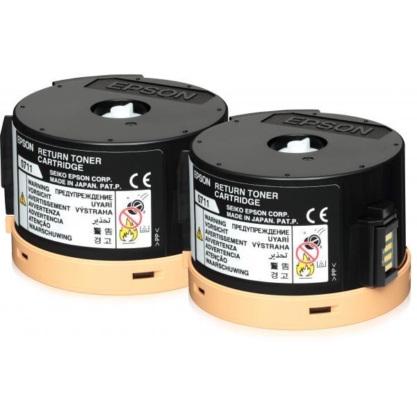 Epson AL-M200/MX200 Double Return Toner Cartridge Pack 2 x 2.5k 8715946521015 C13S050711 10_235F865