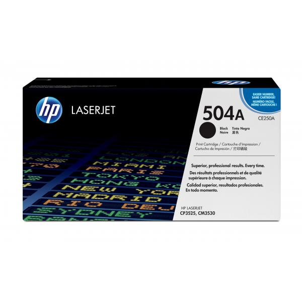 HP Color LaserJet CE250A zwarte printcartridge met ColorSphere toner - CE250A
