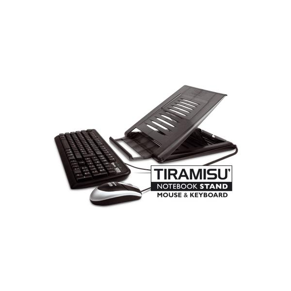 Hamlet XTMS100KM Tiramisù Notebook stand with keyboard and mouse Nero 5391508633650 XTMS100KM 10_V650120