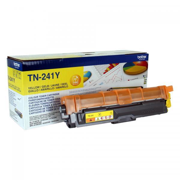 Brother TN-241Y Cartuccia 1400pagine Giallo cartuccia toner e laser 4977766718448 TN-241Y 14_TN241Y