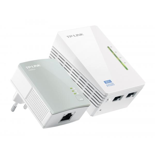 ADATTATORE POWERLINE TP-LINK WIRELESS EXTENDER TL-WPA4220KIT CONF.2PZ X LAN 500M COPERTURA FINO A 300metri, ideale x video HD 3D
