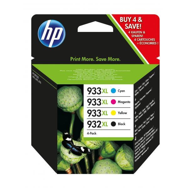HP Confezione da 4 cartucce originali di inchiostro 932XL nero/933XL ciano/magenta/giallo 0887111884923 C2P42AE COM_49567