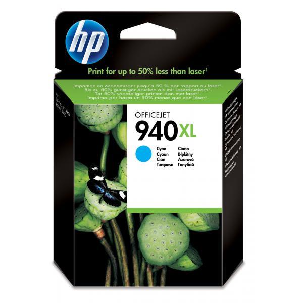 HP 940XL Cyan Officejet Ink Cartridge Use in selected HP Officejet Pro printers - C4907AE