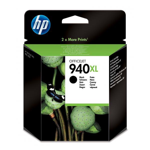 HP 940XL Black Officejet Ink Cartridge Use in selected HP Officejet Pro printers - C4906AE