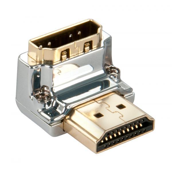 Adattatore HDMI CROMO? Tipo A M/F a 90 gradi ''Gi?''