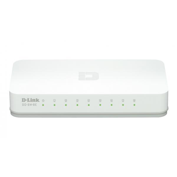 D-Link GO-SW-8E/E switch di rete No gestito Fast Ethernet (10/100) Bianco