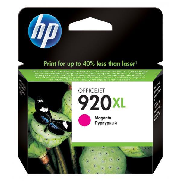 HP 920XL Magenta Officejet Ink Cartridge Use in selected HP Officejet Pro printers EN, DE, FR, IT, NL, RU localization - CD973AE#BGX