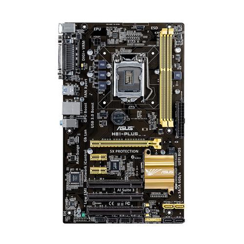 ASUS H81-PLUS Intel H81 LGA 1150 (Socket H3) ATX scheda madre 4716659557920 90MB0GJ0-M0EAY0 COM_03603