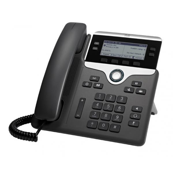 Cisco 7841 telefono IP Nero, Argento Cornetta cablata LCD 4 linee