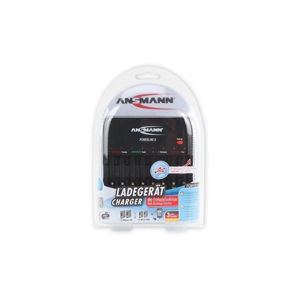 Ansmann Powerline 8 Indoor battery charger Nero 4013674019397 1001-0006 04_90553837