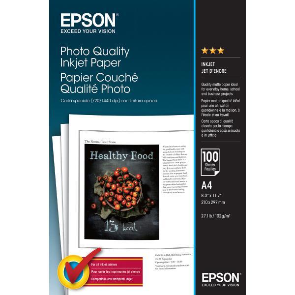 Epson Photo Quality Inkjet Paper - A4 - 100 Fogli