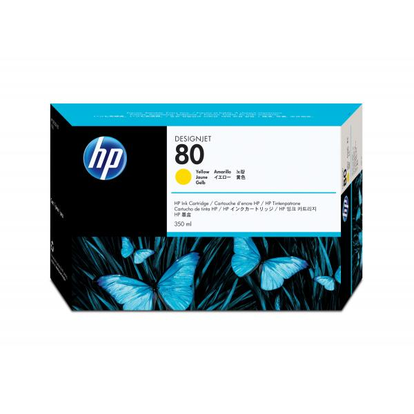 HP HP Cartuccia inchiostro DesignJet giallo 80, 350 ml