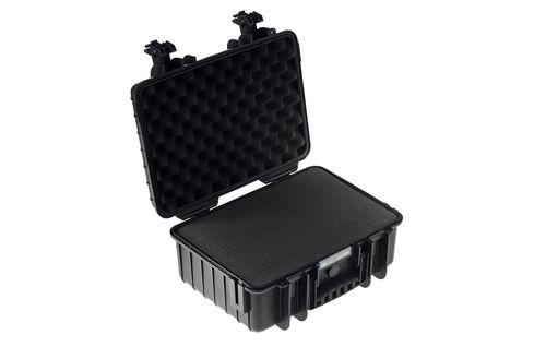 B&W 5000/B/SI custodia per fotocamera Custodia rigida Nero