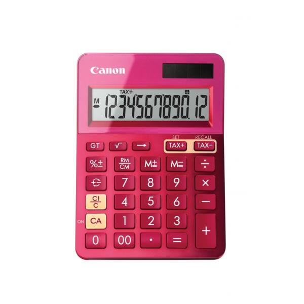 CALCOLATRICE CANON LS-123K Rosa 12 Cifre LCD