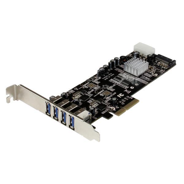 STARTECH SCHEDA USB 3.0 PCIE DUAL BUS A 4 PORTE CON LP4+SATA .