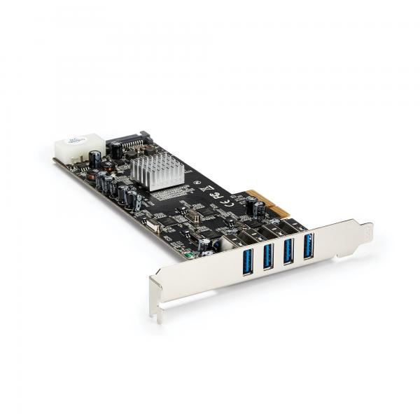 StarTech.com StarTech.com Adattatore scheda SuperSpeed USB 3.0 con 4 porte PCI Express (PCIe) con 4 canali da 5 Gbps dedicati - UASP - Alimentazione SATA/LP4