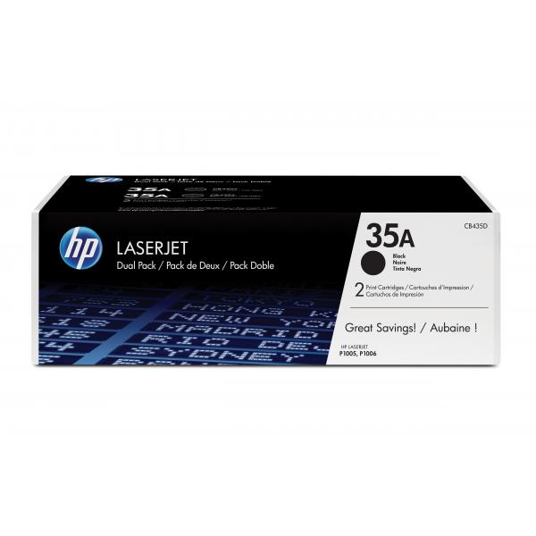 HP LaserJet P1006 Black Crtg Dual Pack - CB435AD