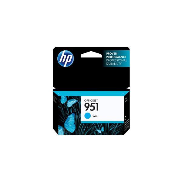 HP 951 Cyan Officejet Ink Cartridge EMEA1 -  EN , GR, FR, IT, NL, RU - CN050AE#BGX