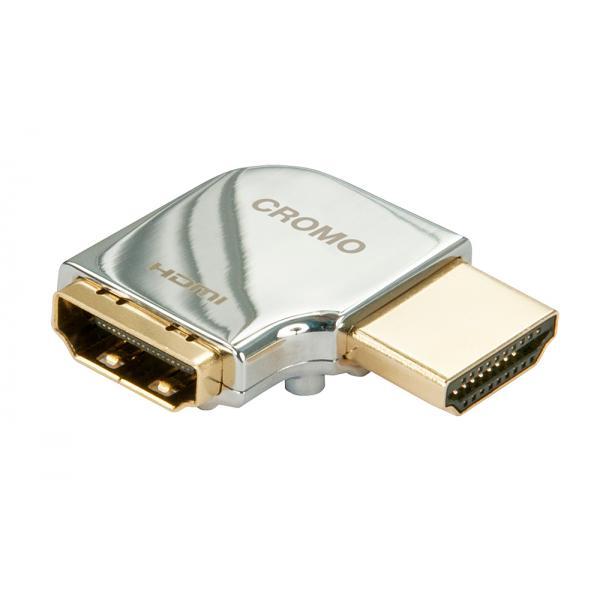 Adattatore HDMI CROMO? Tipo A M/F a 90 gradi ''Destra''