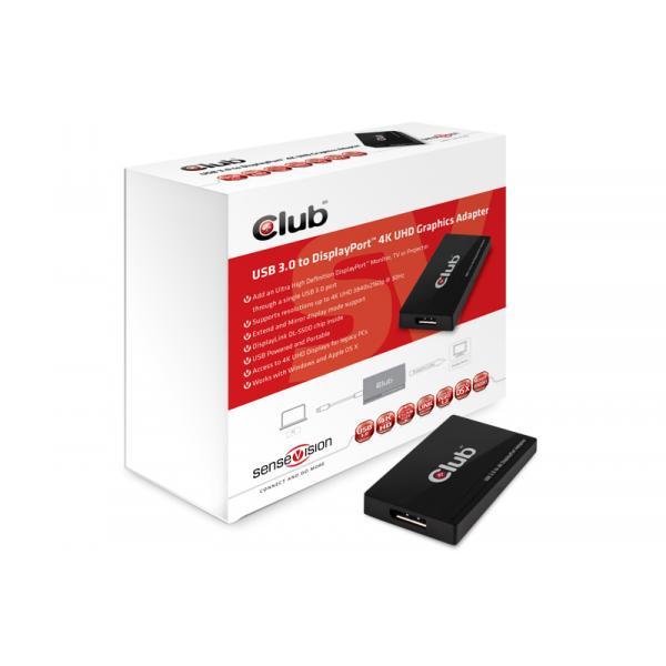 CLUB3D SenseVision USB3.0 to Displayport 4K Graphics Adapter 8717249400998 CSV-2302 14_CSV-2302
