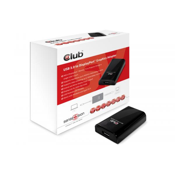 CLUB3D SenseVision USB3.0 to Displayport 1600p Graphics Adapter 8717249400981 CSV-2301 14_CSV-2301