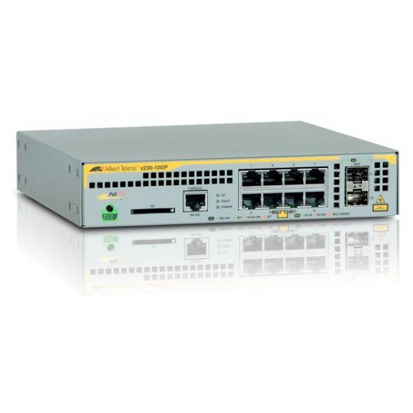 Allied Telesis AT-x230-10GP-50 Gestito L2+ Gigabit Ethernet (10/100/1000) Grigio Supporto Power over Ethernet (PoE)