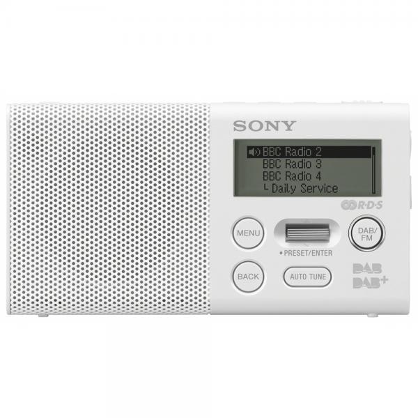 RADIO TASCABILE DAB/DAB+ DISP.LCD WHITE