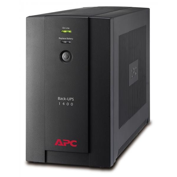 APC Back-UPS A linea interattiva 1400VA Torre Nero gruppo di continuità (UPS) 0731304315933 BX1400U-GR 10_270B252