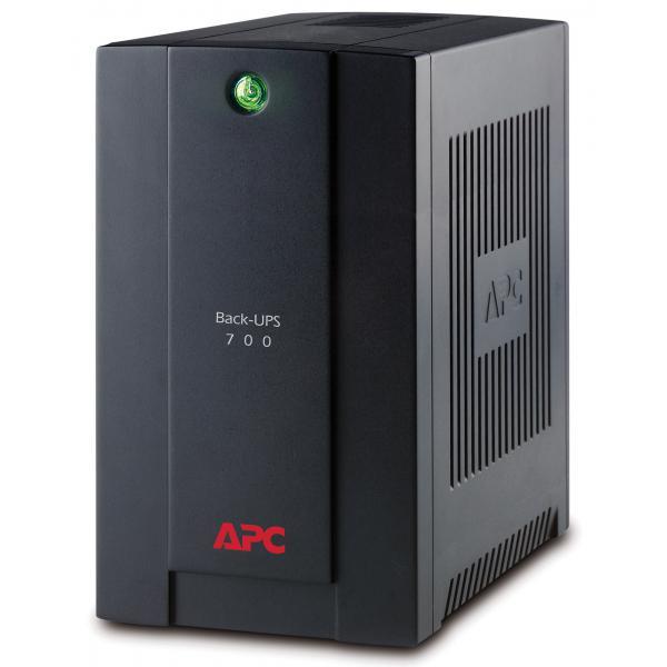 APC Back-UPS A linea interattiva 700VA 4AC outlet(s) Torre Nero gruppo di continuità (UPS) 0731304315803 BX700UI 10_270B255
