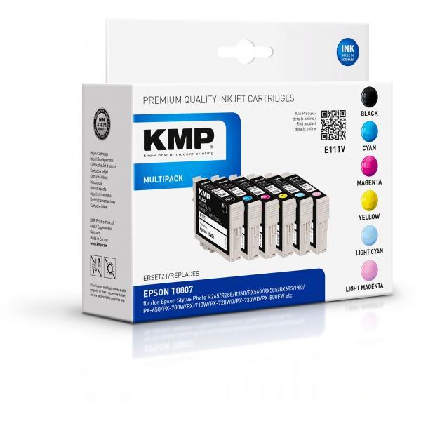 KMP E111V Multipack 6 colori compatibile con Epson T 080 1608,4050