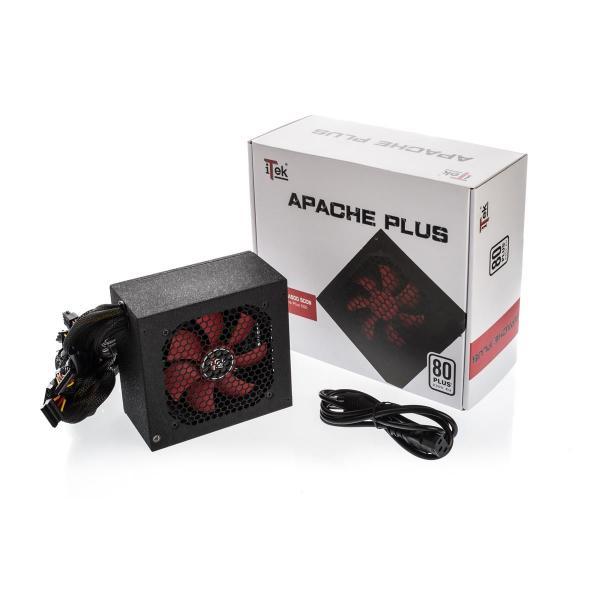 ALIMENTATORE ITEK 500W ATX APACHE VENTOLA 12CM - 20+4P, 2xIde, Fdd, PciE, P8, 4xSata, Active PFC - 80PLUS EU WHITE, ITPSA500