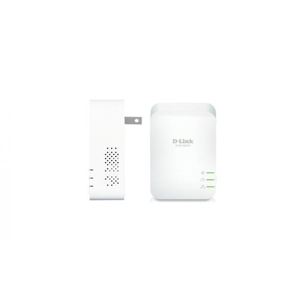 D-Link DHP-601AV Kit PowerLine con 2 Adattatori AV2 1000 Mbps, Porta RJ-45 Gigabit 10/100/1000, Plug&play per Configurazione Semplice, Bianco DHP-601AV/E