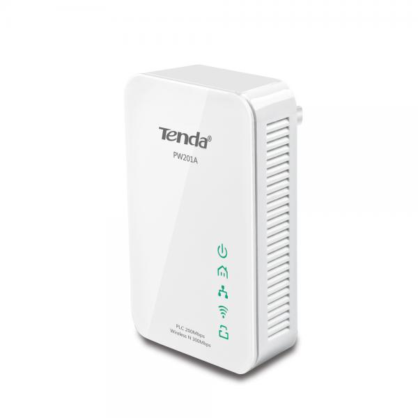 ADATTATORE POWERLINE TENDA PW201A+P200 EXTENDER STARTER KIT: 1xPW201A Wireless N300 Powerline Extender+1xP200 200Mbps PowerLine