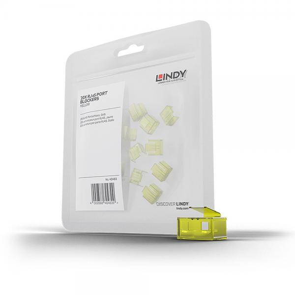 Blocca Porte RJ45 giallo, 20 Pezzi