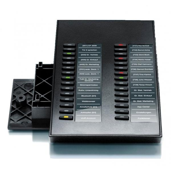 Auerswald COMfortel Xtension300 modulo add-on IP 30 pulsanti Nero