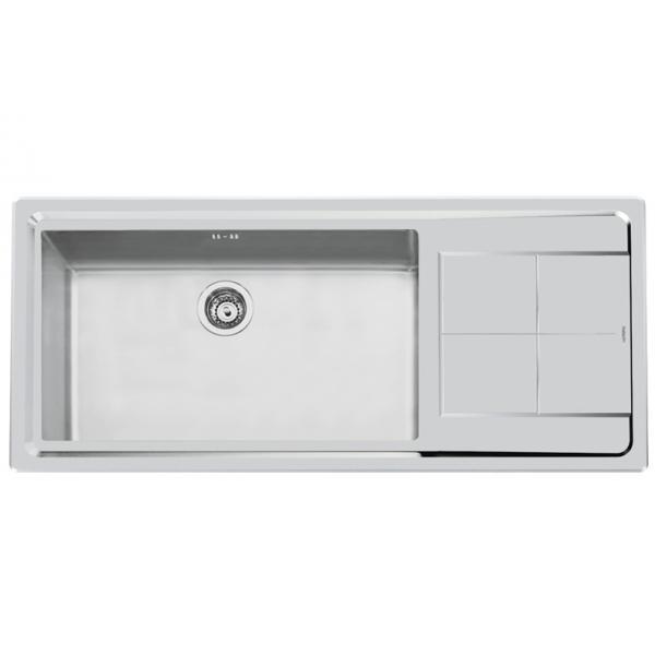 Foster 2211 052 - Lavello KE Sopratop, vasca a SX, Inox spazzolato, 117.3x51.3 cm