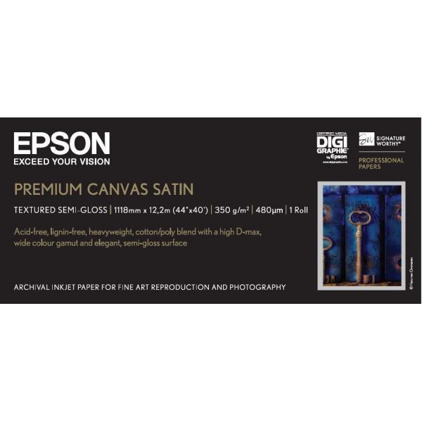 Epson Premium Canvas Satin, in rotoli da111,8cm (44'') x 12, 19m. 0010343849457 C13S041848 TP2_C13S041848