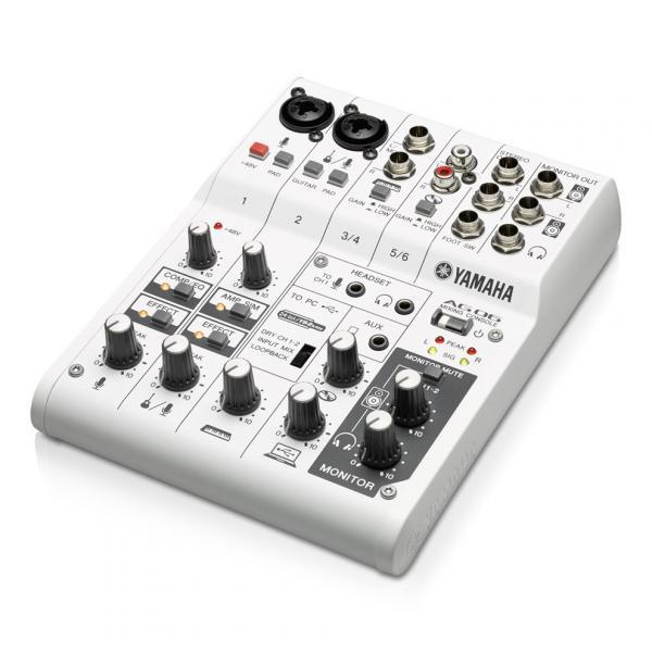 AG06 Mixer 6 canali multifunzione con interfaccia audio USB.