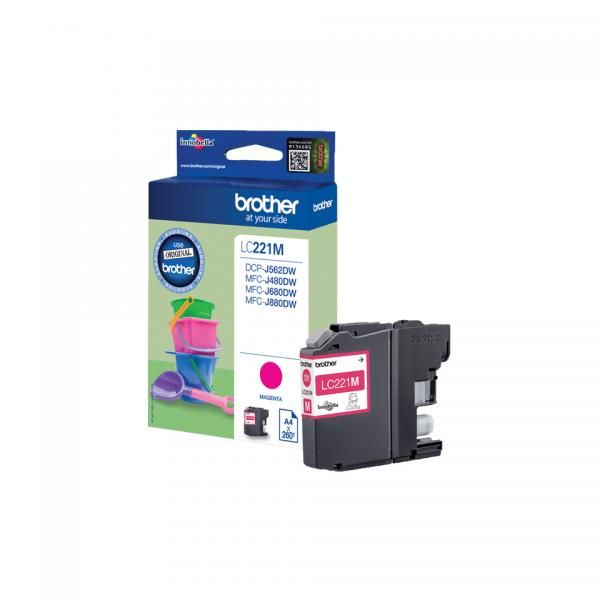 Brother Ink Magenta LC221M