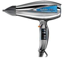 BaByliss 6000E - Asciugacapelli Digitale, 2200 W, Funzione Ionica, 2 Temperature, 2 Velocità, Diffusore e Concentratore